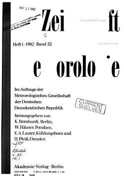 Zeitschrift f  r Meteorologie PDF