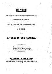 Coleccion de algunas poesias castellanas: anteriores al siglo XV, para servir de continuacion ...