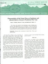 Characteristics of the forest floor on sandstone and alluvial soils in Arizona's ponderosa pine type