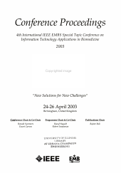 Proceedings of the IEEE Engineering in Medicine and Biology Society, Region 8 International Conference