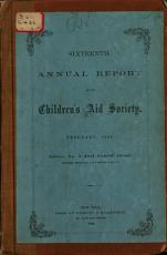 Annual Report of the Children s Aid Society PDF