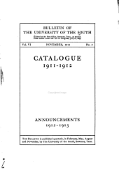 Catalogue and Announcements