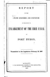 Report in Relation to Enlargement of the Erie Canal at Port Byron