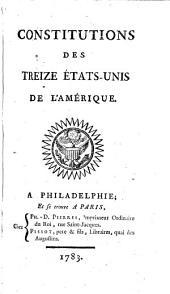 Constitutions des treize États-Unis de l'Amérique