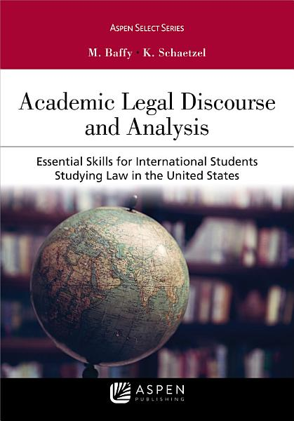 Academic Legal Discourse and Analysis PDF