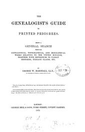 The genealogist's guide to printed pedigrees