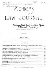 Proceedings of the ... Annual Meeting of the Michigan State Bar Association, with Reports of Committees, Lists of Officers, Members, Etc