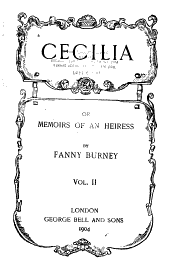 Cecilia: Or, Memoirs of an Heiress, Volume 2