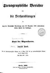 Stenographische berichte über die verhandlungen ...: Band 2