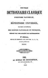 Nouveau dictionnaire classique d'histoire naturelle; ou, Répertoire universel des sciences naturelles et physiques: Volume33