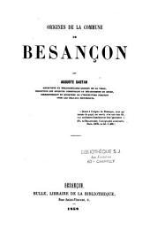 Origines de la commune de Besançon: Volume30