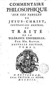 Commentaire philosophique sur ces paroles de Jésus-Christ ...