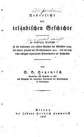 Uebersicht der irlandischen Geschichte
