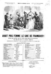 Avait pris femme la Sire de Framboisy !: Revue de l'année 1855 en trois actes, mêlée de couplets. Par Delacour et Lambert Thiboust