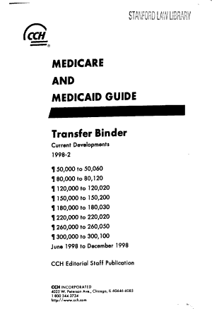 Medicare and Medicaid Guide PDF