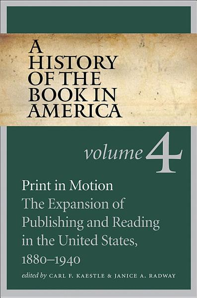 Download A History of the Book in America Book
