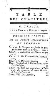 Principes de la littérature: De la poésie dramatique. De la póesie lyrique. De la poésie didactique. De l'épigramme