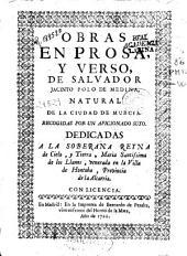 Obras en prosa y verso de Salvador Jacinto Polo de Medina ...