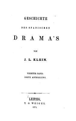Geschichte des Drama s PDF