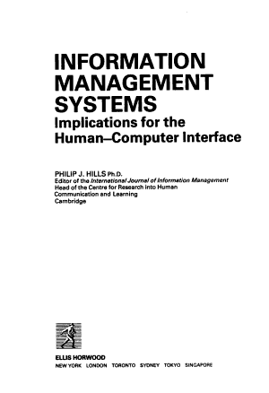 Information Management Systems PDF