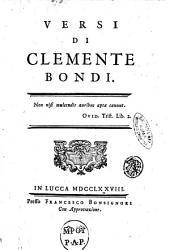 Versi di Clemente Bondi