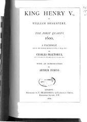 King Henry V: The First Quarto 1600