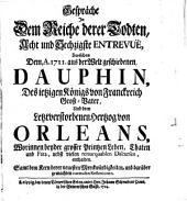 Gespräche in dem Reiche derer Todten ... zwischen ... Dauphhin ... und dem letztverstorbenen Herzog von Orleans ...