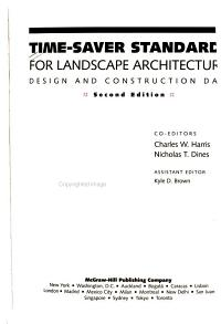 Time Saver Standards for Landscape Architecture PDF