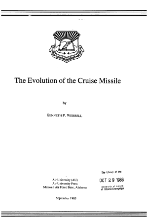 The Evolution of the Cruise Missile
