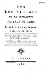 Sur les actions de la Compagnie des Eaux de Paris