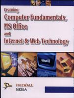 Learning Computer Fundamentals  Ms Office and Internet   Web Tech  PDF
