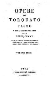 Opere: colle controversie sulla Gerusalemme, Volume 33