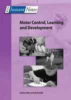BIOS Instant Notes in Motor Control  Learning and Development PDF