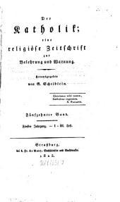 Der Katholik Mainz: Zeitschr. für kath. Wiss. u. kirchl. Leben, Band 15