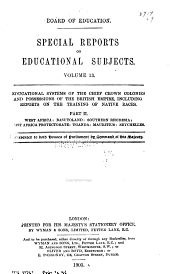 Special Reports on Educational Subjects: Volumes 13-14