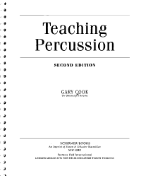 Teaching Percussion Book