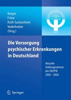 Die Versorgung psychischer Erkrankungen in Deutschland PDF