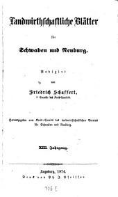 Landwirtschaftliche Blätter für Schwaben und Neuburg: Band 13