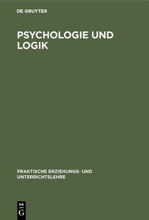 Psychologie und Logik PDF