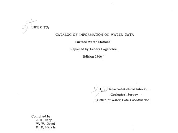Index to Catalog of Information on Water Data PDF