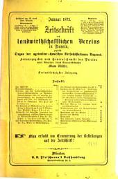Zeitschrift des Landwirthschaftlichen Vereins in Bayern: zugl. Organ d. Agrikultur-Chemischen Versuchsstationen Bayerns. 1873