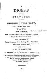 The Statutes of the Mississippi Territory