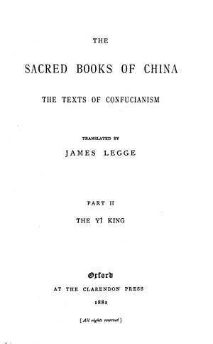 The Sacred Books of the East  The I Ching