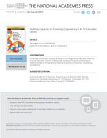 Building Capacity for Teaching Engineering in K 12 Education PDF