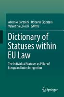 Dictionary of Statuses within EU Law PDF