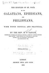 The Epistles of St. Paul to the Galatians, Ephesians, and Philippians