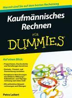 Kaufmannisches Rechnen fur Dummies PDF