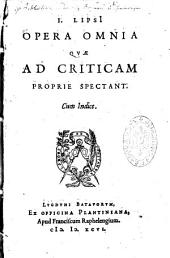 Opera omnia quae ad criticum propria spectant