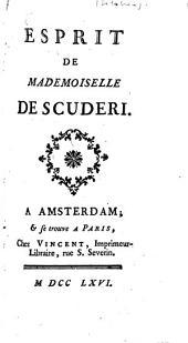 Esprit de Mademoiselle de Scuderi