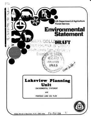 Kaniksu National Forest  N F    Lakeview Unit Land Use Plan PDF